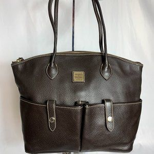 Dooney & Bourke K9051365 brown leather handbag